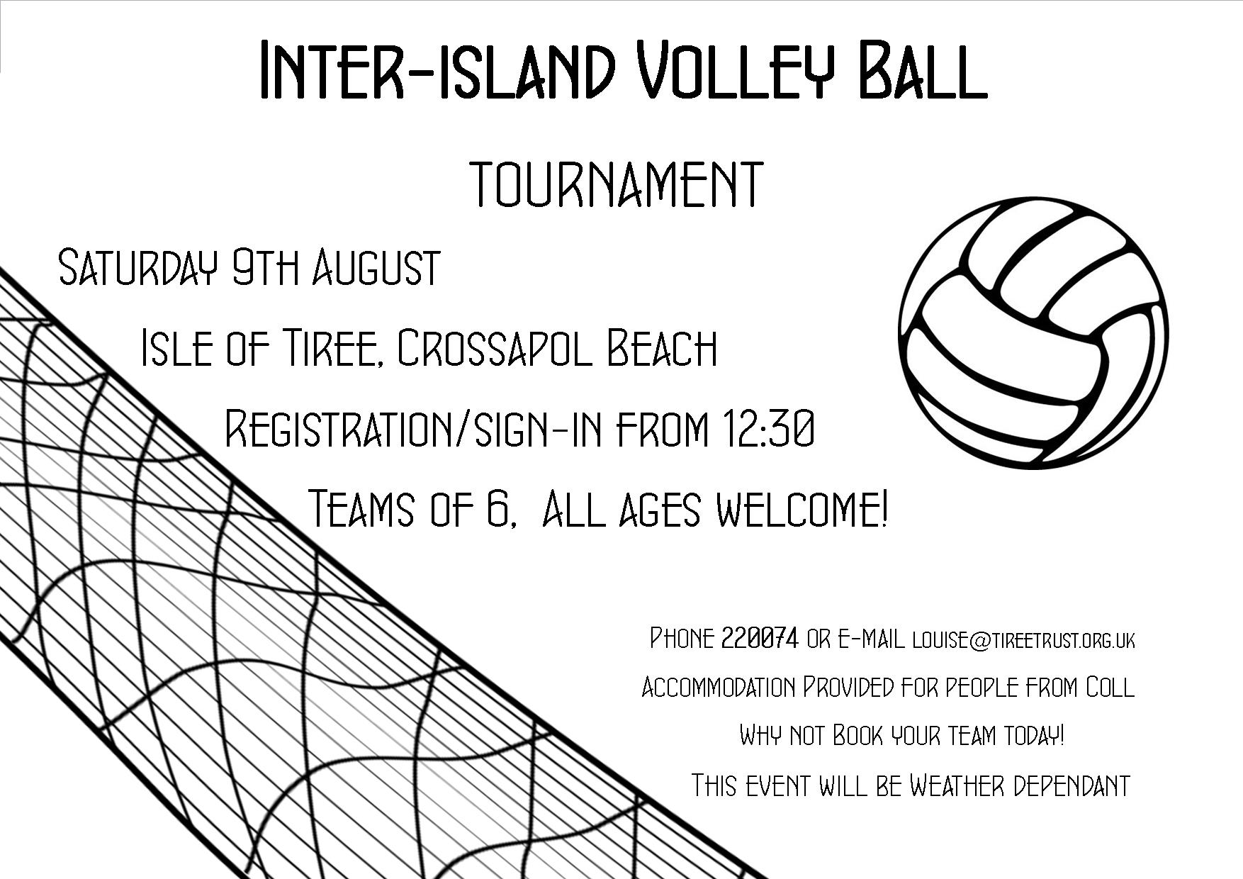 Volley Ball Tournament Poster