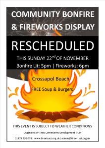 Bonfire Poster 2015 rescheduled